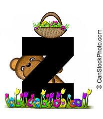 Alphabet Teddy Easter Egg Hunt Z - The letter Z, in the...