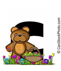Alphabet Teddy Easter Egg Hunt C - The letter C, in the...