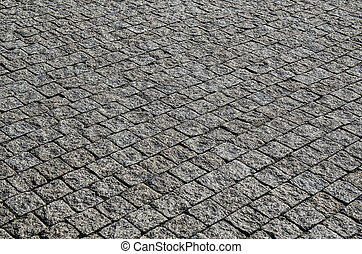 Damp cobble stone - Old damp gray cobble-stone texture,...