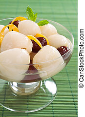 Lychee and Jujubes - Lychee and jujubes Chinese red dates in...