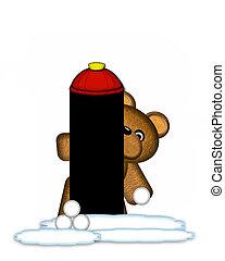 Alphabet Teddy Wintertime I - The letter I, in the alphabet...