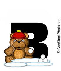 Alphabet Teddy Wintertime B - The letter B, in the alphabet...