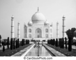 Taj Mahal blurred - Taj Mahal mausoleum in Agra, India...