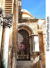 Wall Holy Sepulchre church - Wall Holy Sepulchre church in...