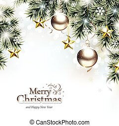 Christmas Background - Christmas background with decorative...