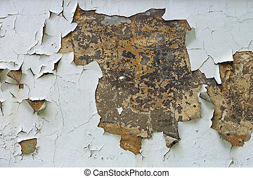 Chipped Paint Peeling of House Wall