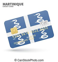 Credit card with Martinique flag background for bank,...