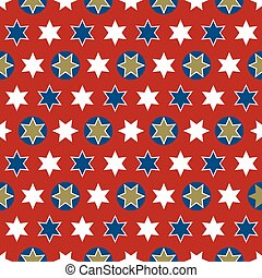 Christmas seamless wrapping paper - a repeating pattern with...