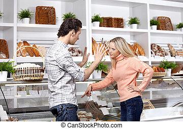 Quarrel in shop