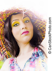 Being Your Own Person - Beautiful Young Woman With Yellow...