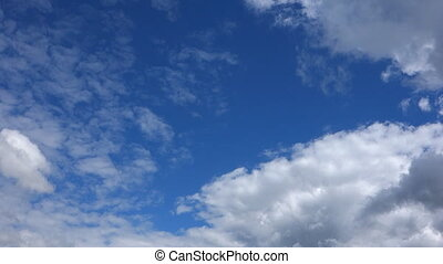 time lapse of beauty blue sky and white clouds