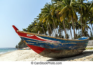 Vietnam, Phan Thiet fishing harbor - Colorful Fishing Boats...
