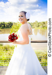 A Turning Point In Life - Young And Hip Bride Standing In...