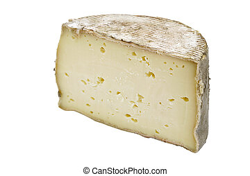 "Piece of Tomme Cheese - Slice of ""Tomme de Yenne\"" cheese..."