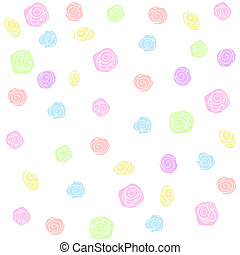 Flower pattern - Vector flower pattern