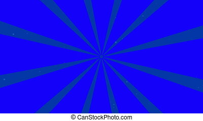 Blue Rotating Sunburst
