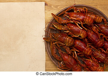 Crayfish cooked for serving - Crayfish, cooked for serving...