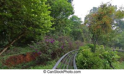 POV Monorail in Prenn Park Da Lat Vietnam