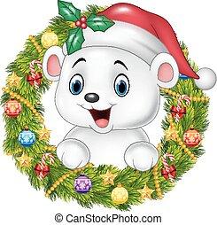 Cute baby polar bear - Vector illustration of Cute baby...