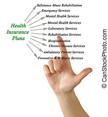 Diagram of health insurance plan