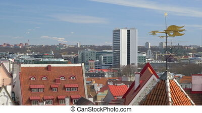 Old And Modern Architecture Of Tallinn - Tallinn, Estonia...