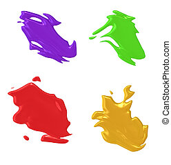 color splash - An illustration of 4 nice abstract color...