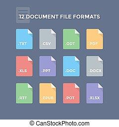 Document, bestand, formaten