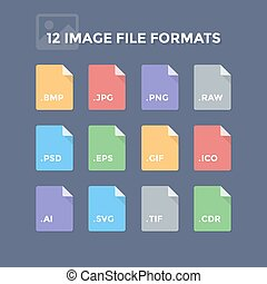 Image File Formats - Image file formats Photo and graphic...