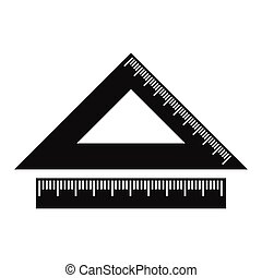 2 school rulers simple icon