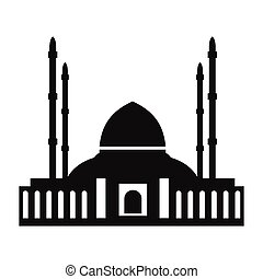 Mosque simple icon isolated on white background