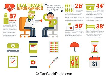healthcare and medical infographic concept - Illustration of...