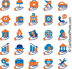 Insurance Service Icons Set