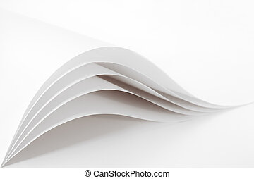 Blank and white pages - Blank and empty white paper sheet...