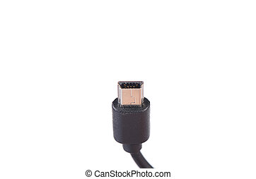 USB cable plug isolated on white background