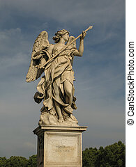 One of the angles on the corresponding bridge in Rome.