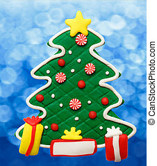 Christmas decorative tree as illustration for design