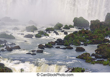 waterfall Iguacu Falls in Brazil and Argentina