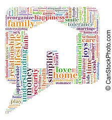 Home and family word cloud concept