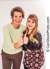 Having a great time with her mom - Photo of an attractive...