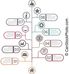 Tree Diagram Template - Tree diagram template with numbers,...
