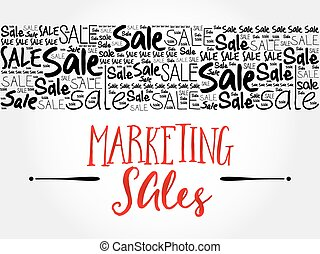 Marketing SALES word cloud background, business concept
