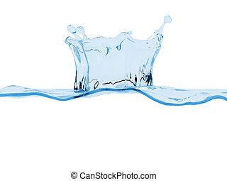 Water splash underwater copy space