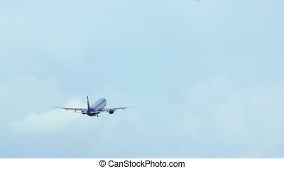 Plane Gaining Height and Flying Away - Passenger or cargo...