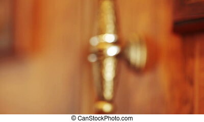 Wedding rings door handle