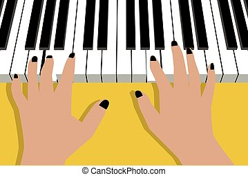 Hands playing piano Vector Clip Art EPS Images. 480 Hands ...