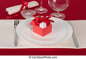 Valentine Day table setting - Valentine Day party table...