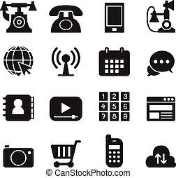 Basic Phone & application Icons Set