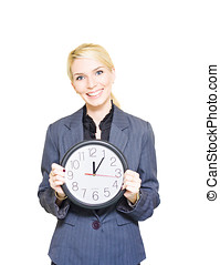Business Time - Isolated Display Of Efficiency Punctuality...