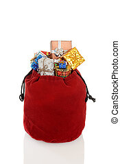 santa claus bag with white background