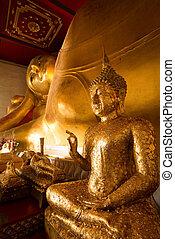 Sleeping buddha at Wat Phra Phuttaya Saiyat PHETCHABURI,...